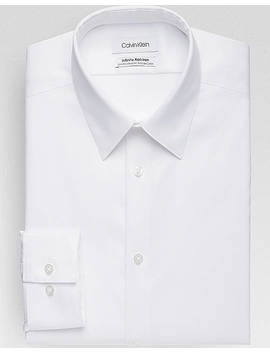 Calvin Klein Infinite Non Iron White                            Slim Fit                                                   Stretch Dress Shirt by Calvin Klein