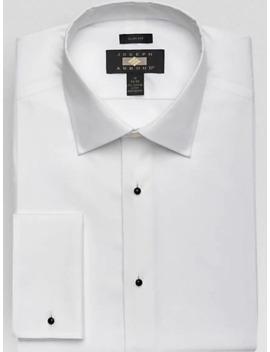 Joseph Abboud White Slim Fit Tuxedo Dress Shirt by Joseph Abboud