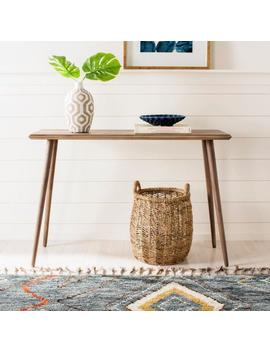 Marshal Milk Chocolate Console Table by Safavieh