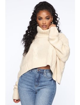 Finders Keepers Cable Knit Sweater   Cream by Fashion Nova