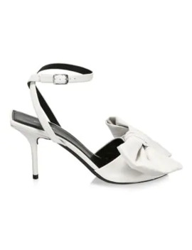 Square Knife Bow Leather Sandals by Balenciaga
