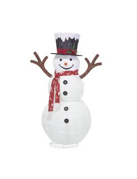 72 In. Christmas 120 Light Led Collapsible Snowman With Red Scarf by Home Accents Holiday