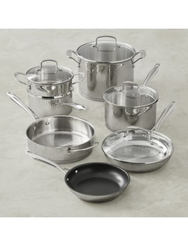 Cuisinart Professional Series Stainless Steel 11 Piece Cookware Set by Williams   Sonoma