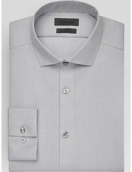 Calvin Klein Infinite Slate Jacquard                            Slim Fit                                                   Dress Shirt by Calvin Klein
