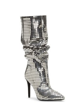 Leonelle Slouchy Disco Ball Stiletto Heel Tall Boots by Jessica Simpson