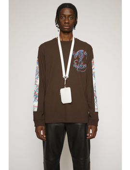 Summer Solstice T Shirt Coffee Brown by Acne Studios