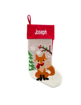 Fox Hand Hooked Stocking by Things Remembered