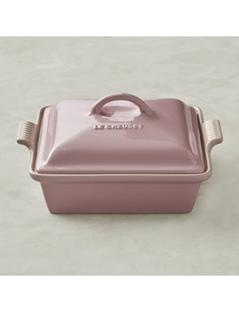 Le Creuset Stoneware Shallow Square Covered Baker, Rose by Williams   Sonoma