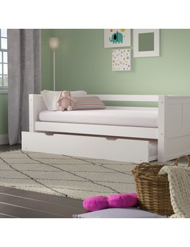 Burkley Twin Panel Bed With Trundle by Mack & Milo