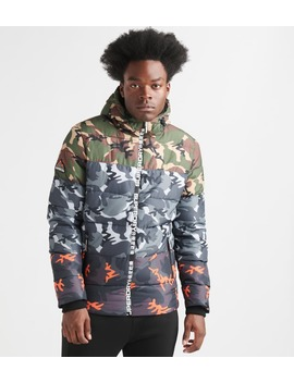 Superdry Camo Mix Sports Puffer Jacket by Superdry