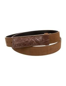 Intrecciato Leather Trimmed Belt by Bottega Veneta