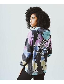 Obey Mira Rosa Black & Rainbow Tie Dye Hoodie by Obey