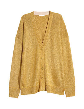 Shimmering Metallic Cardigan by H&M