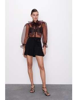 Ruffled Hem Bermuda Shorts by Zara