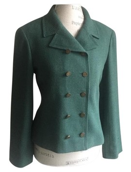 Green Boucle Jacket Nwot Blazer by Chanel