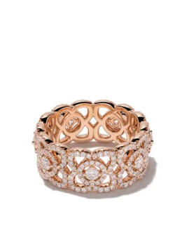 18kt Rose Gold Enchanted Lotus Diamond Band by De Beers
