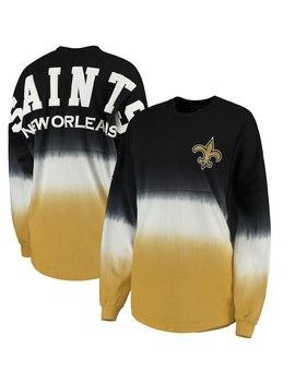 Women's New Orleans Saints Pro Line By Fanatics Branded Black/Gold Spirit Jersey Long Sleeve T Shirt by Nfl