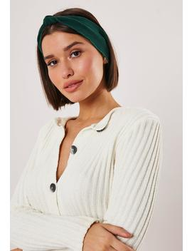 Green Knot Front Headband by Missguided