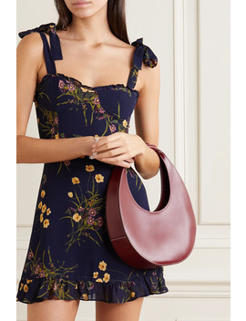 Christine Ruffled Floral Print Georgette Mini Dress by Reformation