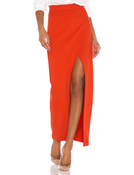 The Lyra Midi Skirt In Red by L'academie