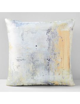 Gold Swipe Brocade Pillow Cover by West Elm