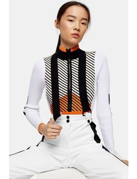 **White Colour Block Flare Ski Trousers By Topshop Sno by Topshop