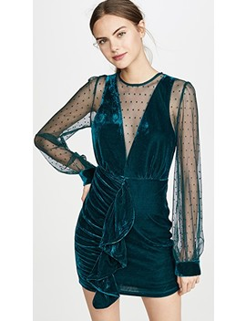 Meshed Contrast Ruched Dress by Endless Rose