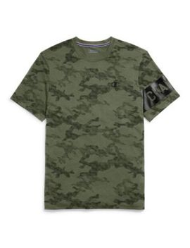 Champion Men's Camo Mesh Tee, Block Logo by Champion