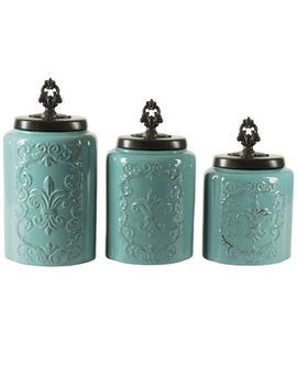 Jay Imports 3 Pc. Canister by Jay Imports
