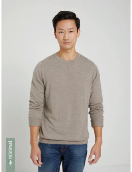 Machine Washable Merino Crewneck In Taupe by Frank & Oak