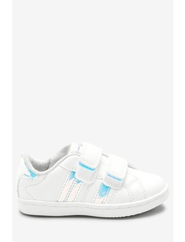 White Touch Fastening Trainers (Younger) by Next