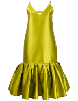 Satin Drop Waist Dress by Marques'almeida
