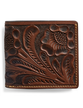 Hand Tooled Leather Billfold by Ralph Lauren
