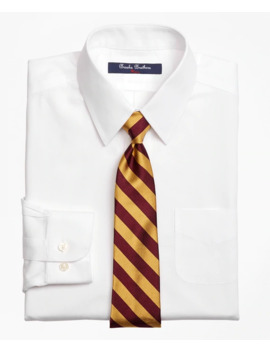 Boys Non Iron Supima® Pinpoint Cotton Dress Shirt by Brooks Brothers