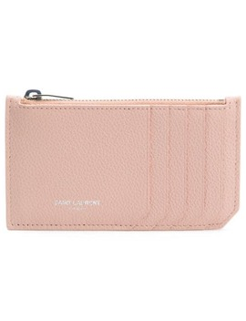 Pebbled Fragments Card Holder by Saint Laurent