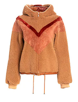 Reversible Chevron Shearling Jacket by See By Chloé