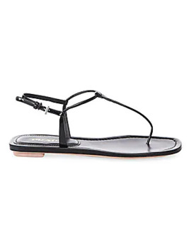 Flat Leather Thong Sandals by Prada
