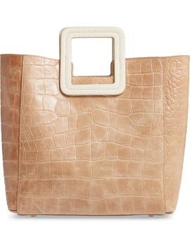 Shirley Croc Embossed Leather Handbag by Staud