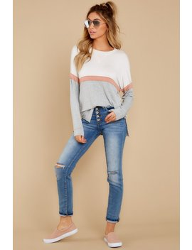 The Heather Grey Color Block Long Sleeve Top by Z Supply