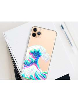 I Phone 11 Pro Max The Great Wave Glitch Clear Phone Cover For I Phone 6 6 S 7 8 Plus X 10 Xr Xs Max Galaxy S7 S8 S9 S10 Lite With Design by Etsy