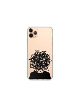 Grunge Line Art Clear Phone Case I Phone 6 S 7 8 Plus I Phone X Xs I Phone Xr I Phone Xs Max Galaxy S10 Galaxy S9 Cover Mind Blown Scribbles by Etsy