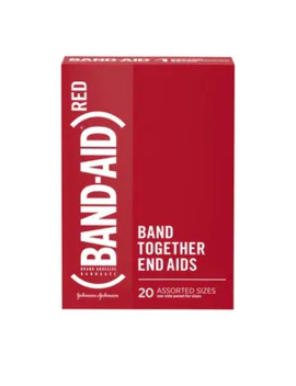 Band Aid Brand Adhesive Bandages, (Red) Designs, Assorted Sizes, 20 Ct by Cvs