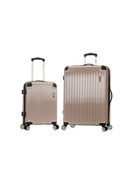 Rockland Santorini 2pc Expandable Polycarbonate Spinner Set by Rockland