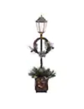 Puleo International 48 In Lamp Post Lamp Post With White Incandescent Lights by Lowe's