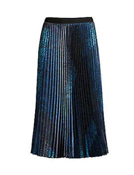 Sue Animal Print Pleated Midi Skirt by Elie Tahari
