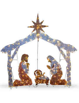 72 Inch Nativity Scene Decoration With Clear Lights by Bed Bath And Beyond