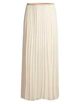 Pleated Midi Skirt by Peserico