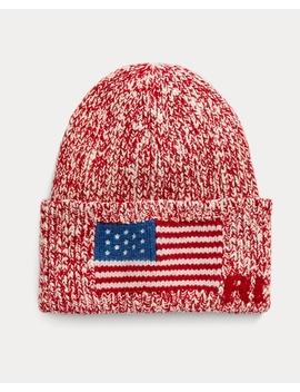 Flag Brim Knit Cap by Ralph Lauren