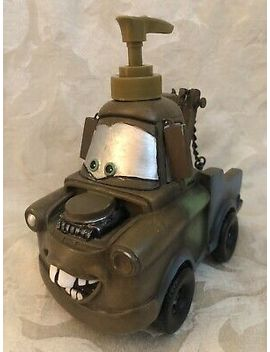Rare & Unusual Disney Cars Mater Liquid Soap Dispenser Tow Truck By Jay Franco by Disney