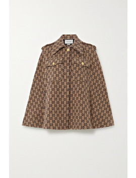 Wool Jacquard Cape by Gucci